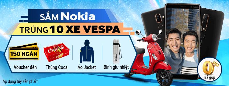 Sắm Nokia Trúng Vespa - Thêm trả góp 0%